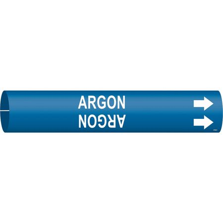 Pipe Marker, Argon, Blue, 2-1/2 to 3-7/8 In