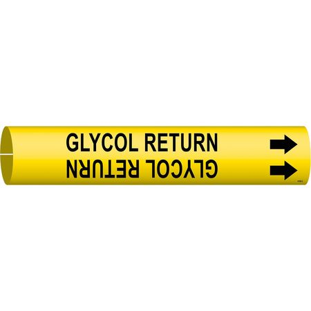 Pipe Markr, Glycol Return, 2-1/2to3-7/8 In