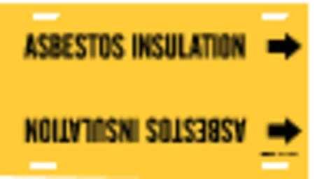 Pipe Mrkr, AsbestosInsulation, 8to9-7/8In