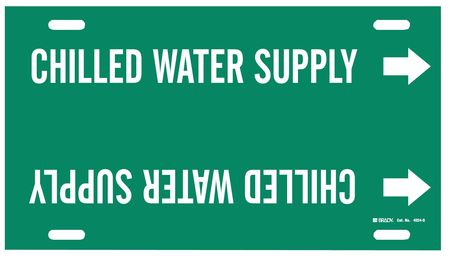 Pipe Mrkr, Chilled Water Supply, 8 to9-7/8