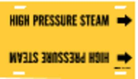 Pipe Mrkr, High Pressure Steam, 6to7-7/8In