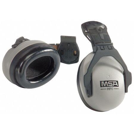 Cap-Mounted Ear Muff, 27dB, Gray/Black
