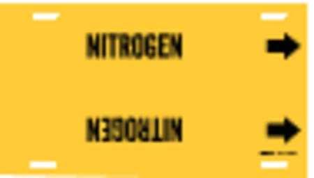 Pipe Marker, Nitrogen, Yel, 6 to 7-7/8 In