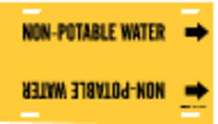 Pipe Markr, Non-Potable Water, 6to7-7/8 In
