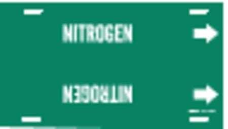 Pipe Marker, Nitrogen, Green, 8 to 9-7/8 In