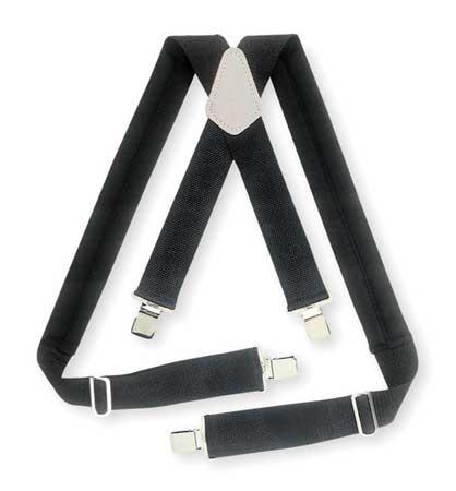 Universal Suspenders,  Black Elastic,  Webbing
