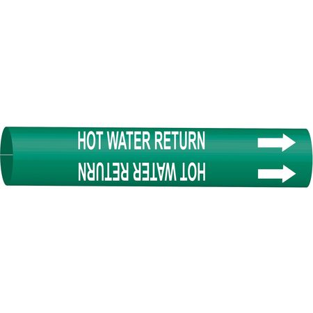 Pipe Marker, Hot Water Return, 6to7-7/8 In
