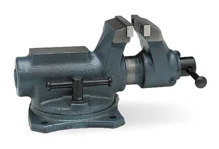 Workshop Vise, Swivel, 4 In Jaw