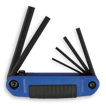 Folding Hex Key Set, 6 Pieces