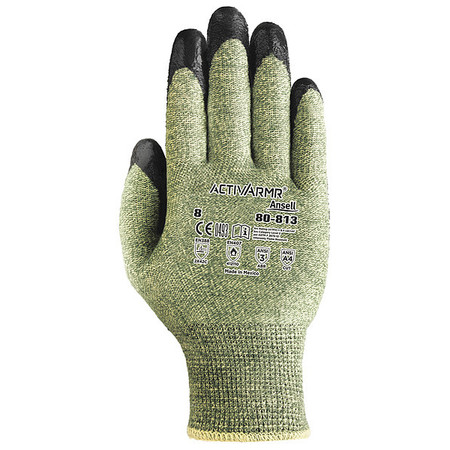 Cut Resistant Gloves, Green/Black, XL, PR