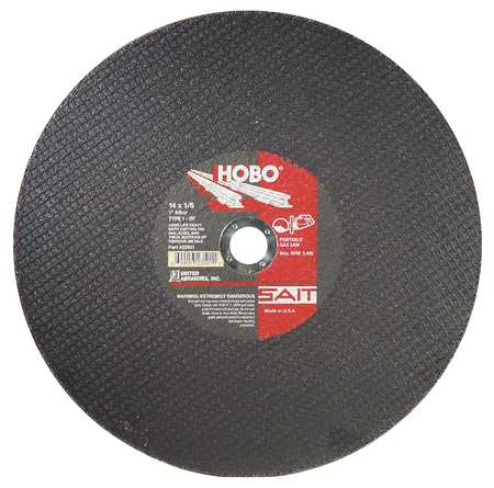 "CutOff Wheel, HOBO, 14""x.125""x1"", 5400rpm"