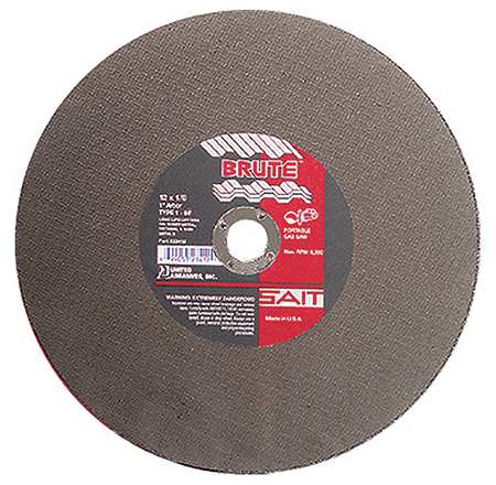 "CutOff Wheel, BRUTE, 14""x.125""x1"", 5400rpm"