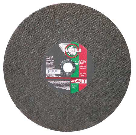 "CutOff Wheel, DUCTILE, 14""x.125""x1"""