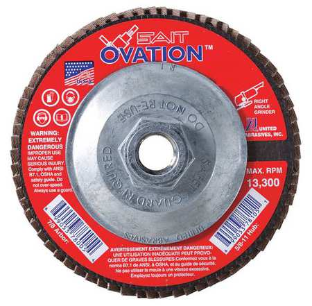 Arbor Mount Flap Disc, 7in, 60, Med.