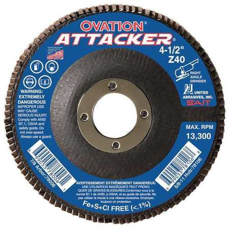 Arbor Mount Flap Disc, 5in, 80, Medium