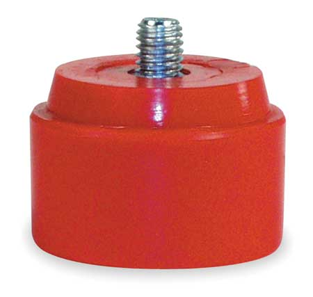 Hammer Tip, 3 In Dia, Medium, Red, PK2