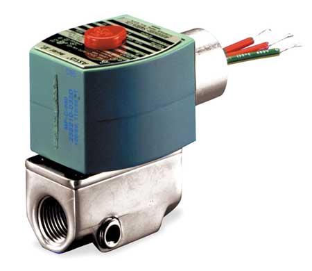 """1/8"""" NPT 2-Way Fuel Gas Solenoid Valve 120VAC"""