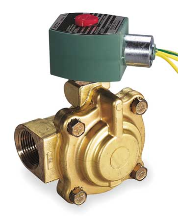 "1"" NPT 2-Way Slow Close Hot Water Solenoid Valve 120VAC"