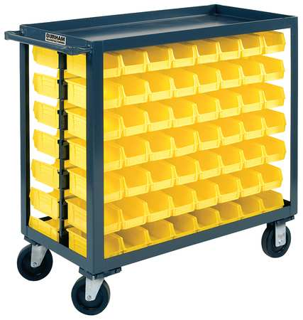Bin Cart, 18x36x35 In., 1200 lb. Cap.