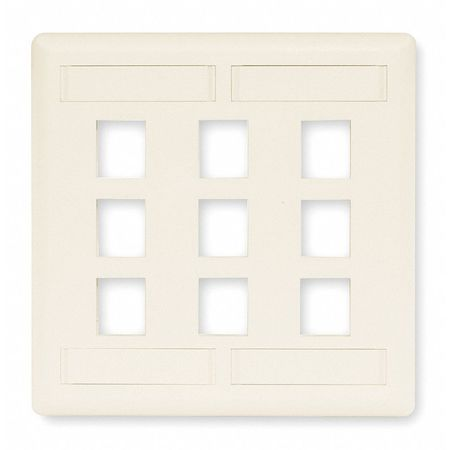 Wall Plate, 9 Port