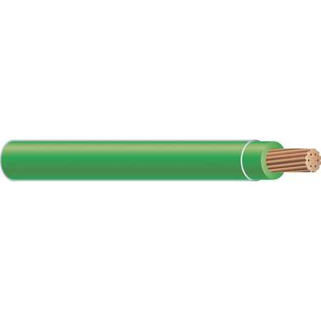 Building Wire, THHN, 2 AWG, Green, 500ft