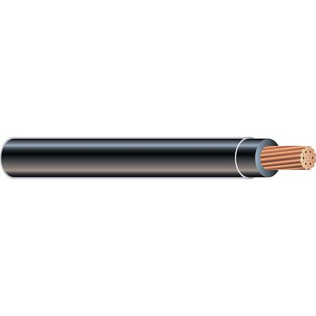 Building Wire, TFFN, 18/6AWG, Black, 500 ft.