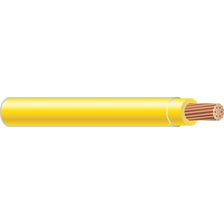 Machine Tool Wire, 10 AWG, 30 Amps, Yellow