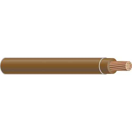 Building Wire, THHN, 4 AWG, Brown, 500ft