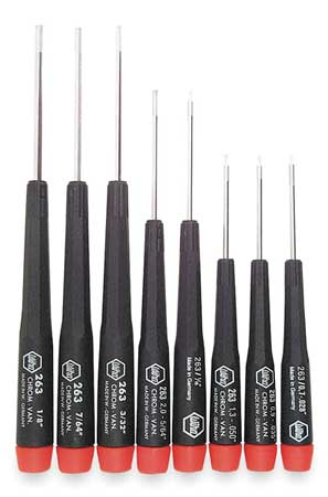 Precision Screwdriver Set, Hex, SAE, 8 pcs.