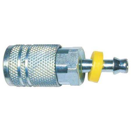 Coupler, Barb, 1/4, Steel