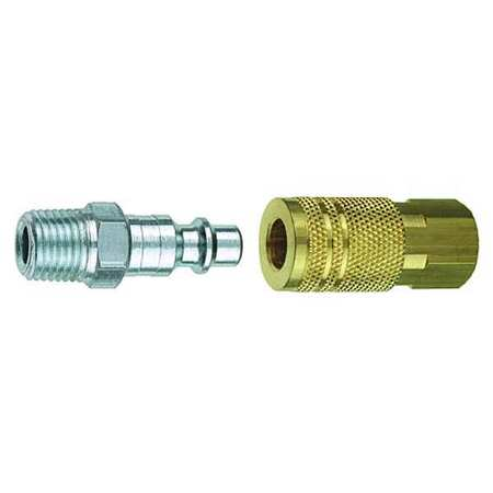 Coupler/Plug Kit, (F)NPT, 1/4, Brass