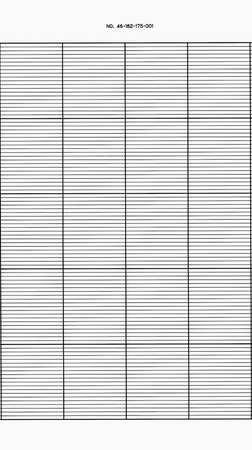 Strip Chart, Roll, Range None, Length 120Ft,  Min. Qty 10