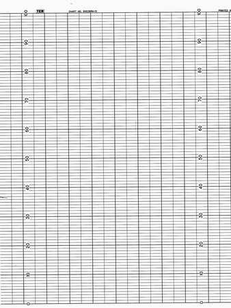 Strip Chart, Fanfold, Range 0 to 101, 61 Ft
