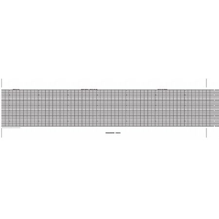 Strip Chart, Fanfold, Range 0 to 14, 53 Ft