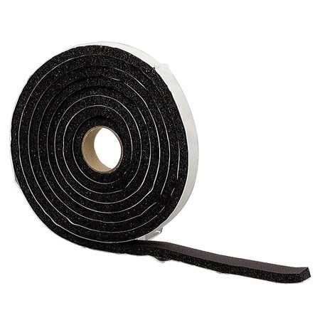 Foam Tape, 10 ft., Black, Sponge