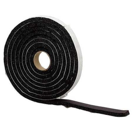 Foam Tape, 10 ft., Black, Sponge
