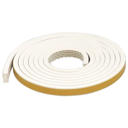 Weatherstrip, White, Length 10 ft.