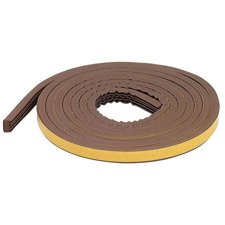 Weatherstrip, Brown, Length 10 ft.