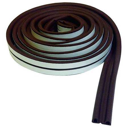 Weatherstrip, P, Brown, Length 17 ft.