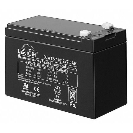 Battery, 7 Amps, 12 Volts, Use With 5MKK9