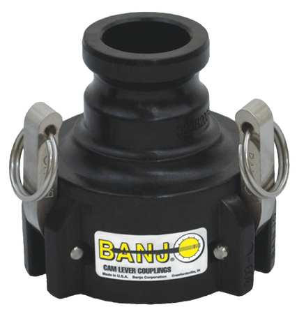 Reducing Coupling, Slip, 3 x 2 In, Black