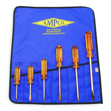 Nonspark Screwdriver Set, Slot/Phllps, 6Pc