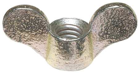 "1/2""-13 Grade 2 Malleable Iron Zinc Plated Wing Nuts,  10 pk."