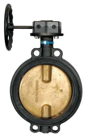 Butterfly Valve, Wafer, Pipe Size 6 In