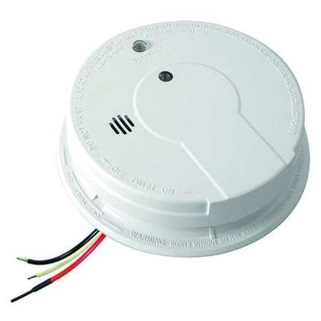 Smoke Alarm, Photoelectric, 120VAC,  9V