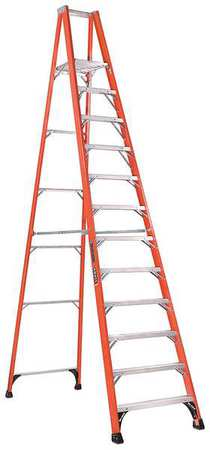 "Platform Stepladder, 11 ft 5"", FGL, 375 lb"