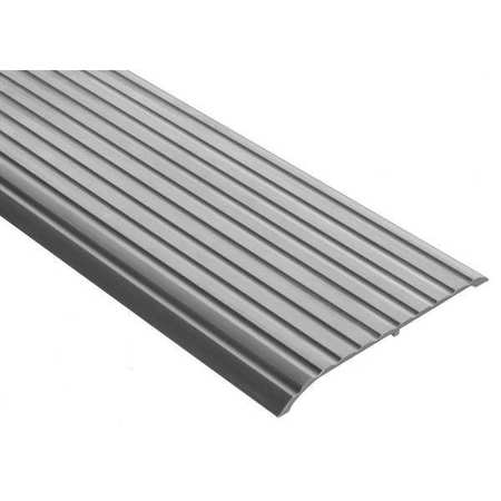 Threshold, Fluted Top, 4 ft., Aluminum Mill