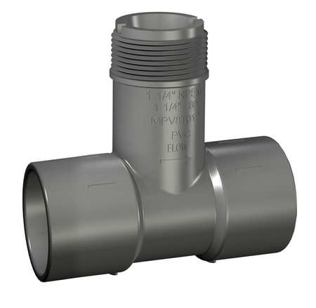 "1-1/2"" Socket PVC Insertion Tee Sched 80"