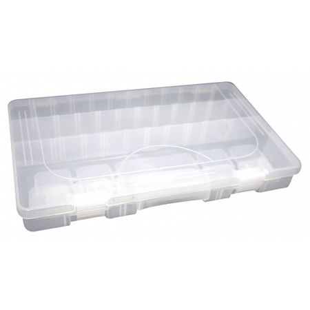Large Accessory Tray w/ 28 Adjustable Slots,  Clear Plastic