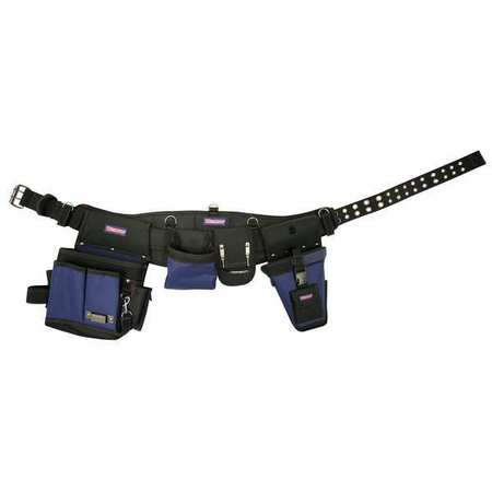 "Electricians Tool Rig w/Belt,  Fits up to 54"",  Black/Blue"